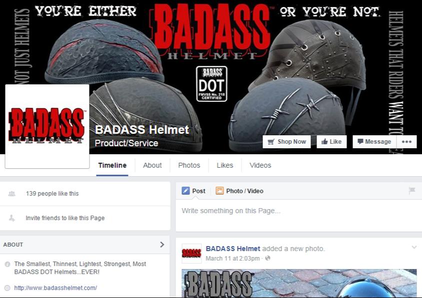 Facebook – Badass Helmet Co