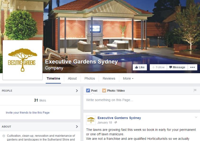 Facebook – Executive Gardens