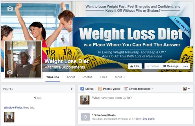 Facebook – Weight Loss Diet